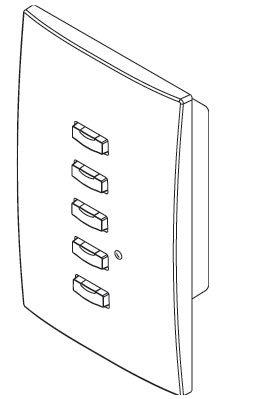 ETC/Elec Theatre Controls SH-10005-4A Smartlink 5 Button Wallplate Controller, Black SH-10005-4A