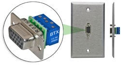 BTX Technologies CD-HD15FEZBR  HD15(F) to Terminal Block  CD-HD15FEZBR