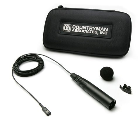Countryman M2HW5FF05-NC Microphone for Wireless, ISOMAX 2, All-Purpose, Hypercardioid, Black, Pigtail Leads Connector for 3 wire Operation M2HW5FF05-NC