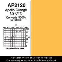 "Apollo Design Technology AP-GEL-2120 GelSheet, 20""x24"", Apollo Orange 1/2 CTO AP-GEL-2120"