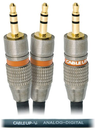 "Cable Up by Vu YP-M3-M3D-3 3 ft 1/8"" TRS Male to Dual 1/8"" TRS Male Parallel Y-Cable YP-M3-M3D-3"
