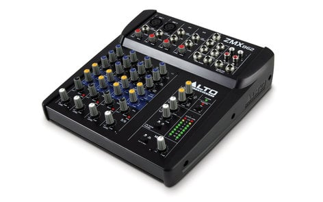 Alto Professional ZMX862 6-Channel Compact Mixer with 3-Band EQ and 2 Microphone Inputs ZMX862