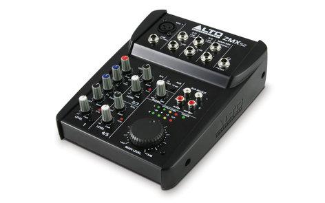 Alto Professional ZMX52 5 Channel Compact Mixer, 2-band EQ, 1 XLR Mic In ZMX52