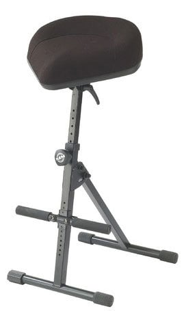 K&M Stands 14045  Stool with Bicycle-seat, Black Leather 14045