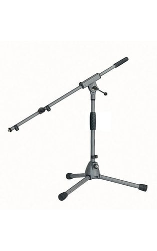 K&M Stands 25900 Low-Level Microphone Stand with Gray Powder Coat Finish 25900-GRAY