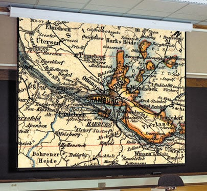 Draper Shade and Screen 116009  Targa Motorized Screen, 8'x10', Matte White 116009