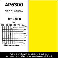 Apollo Design Technology AP-GEL-6300 Gel Sheet, 20x24, Neon Yellow AP-GEL-6300