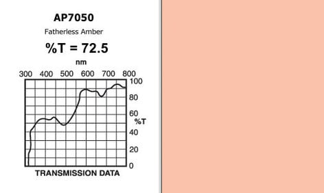 "Apollo Design Technology AP-GEL-7050 20"" x 24"" Sheet of ""Fatherless Amber"" Gel AP-GEL-7050"