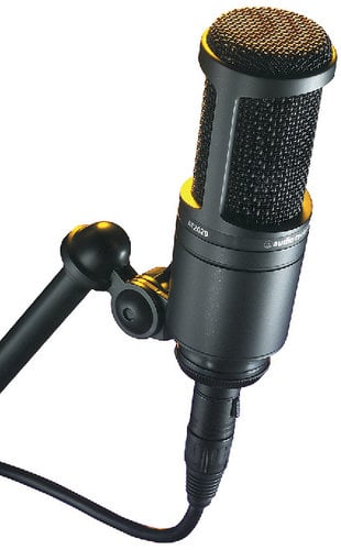 Audio-Technica AT2020 Cardioid Condenser Microphone AT2020
