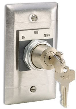 Draper Shade and Screen 121018  3-Position Key Control Switch, KS-3 121018