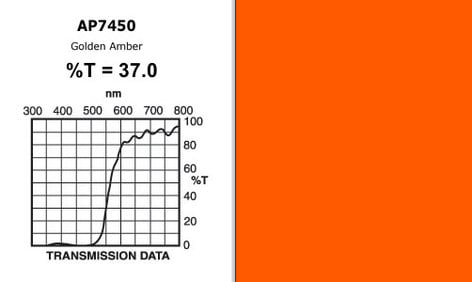 "Apollo Design Technology AP-GEL-7450 20"" x 24"" Sheet of ""Golden Amber"" Gel AP-GEL-7450"
