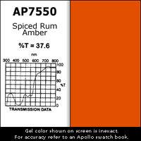 "Apollo Design Technology AP-GEL-7550 Gel Sheet, 20""x24"", Spiced Rum Amber AP-GEL-7550"