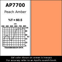 "Apollo Design Technology AP-GEL-7700 Gel Sheet, 20""x24"", Peach Amber AP-GEL-7700"