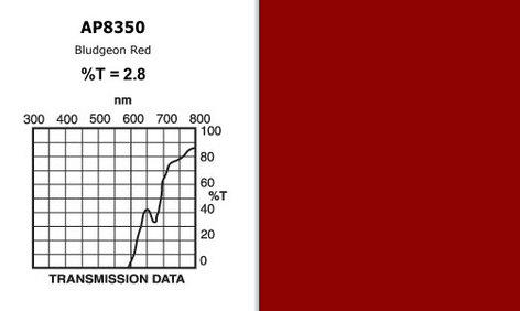 "Apollo Design Technology AP-GEL-8350 20"" x 24"" Sheet of ""Bludgeon Red"" Gel AP-GEL-8350"