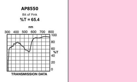 """Apollo Design Technology AP-GEL-8550 20"""" x 24"""" Sheet of """"Bit of Pink"""" Gel AP-GEL-8550"""