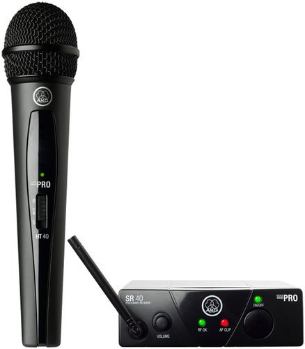 AKG WMS40 Mini Single Vocal Set UHF Wireless Vocal Microphone System with HT40 Mini , SR40 WMS40-VOCAL-MINI