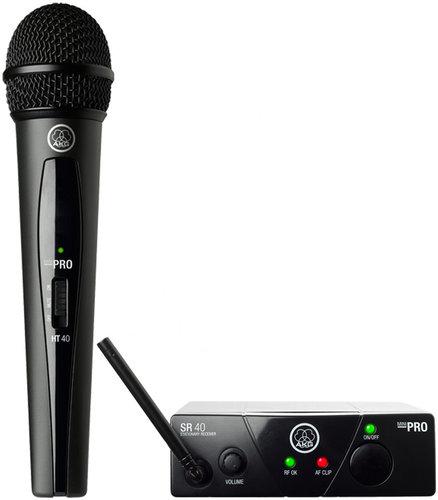 AKG WMS40 Mini Single Vocal Set UHF Wireless Vocal Microphone System with HT40 Mini , SR40 WMS40-VOCAL-MINI