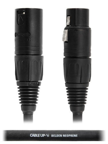 Cable Up by Vu MIC-AN-XX-25-STD 25 ft Neutrik XLR NC3FX Microphone Cable MIC-AN-XX-25-STD