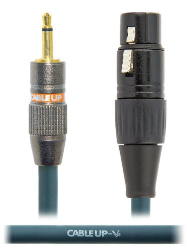 """Cable Up by Vu XF3-M2-1 1 ft XLR Female  to 1/8"""" TS Unbalanced Male Cable XF3-M2-1"""