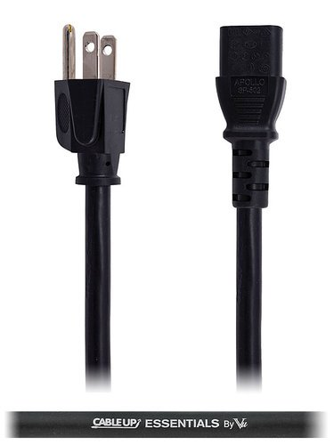 Cable Up by Vu IEC-ED-14-3 3 ft 14 AWG IEC Power Cable IEC-ED-14-3
