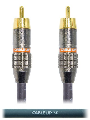 Cable Up by Vu RM-RM-VP-15 15 ft RCA Male to RCA Male Video Cable RM-RM-VP-15