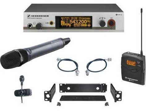 Sennheiser EW322/335-G3 Wireless Handheld/Bodypack Microphone System with e835 and ME4 EW322/335-G3