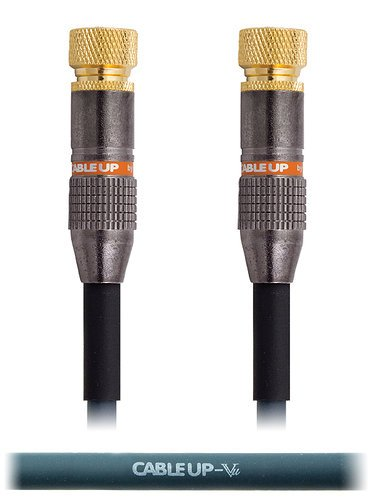Cable Up by Vu FC-FC-100 100 ft F-Connector to F-Connector Coaxial Cable FC-FC-100