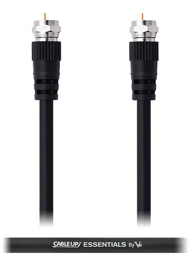 Cable Up by Vu FC-FC-V-100 100 ft F-Connector to F-Connector Coaxial Cable with Molded Connectors FC-FC-V-100