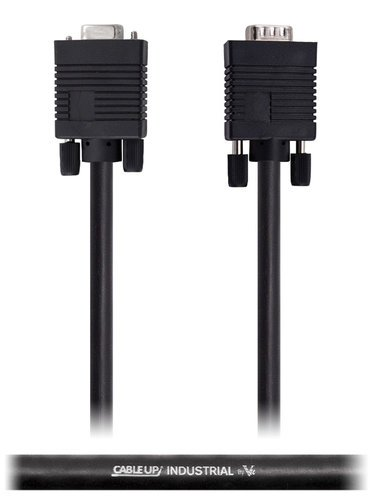 Cable Up by Vu VGADE15-MF-25 25 ft VGA Male to Female Extension Cable with DE15 Connectors VGADE15-MF-25