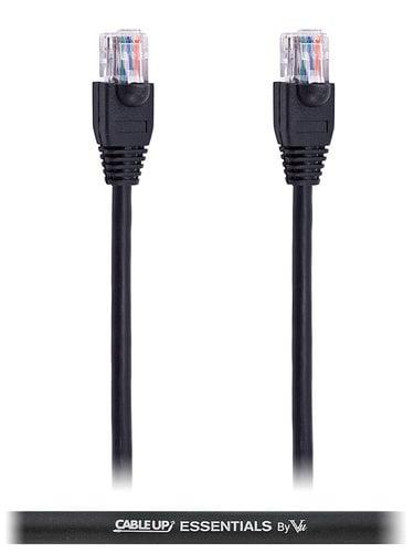 Cable Up by Vu CAT5E-150-BLK 150 ft CAT5E Cable with Black Jacket CAT5E-150-BLK