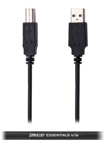 Cable Up by Vu USBA-USBB-15 15 ft USB 2.0 Type A to Type B Cable USBA-USBB-15