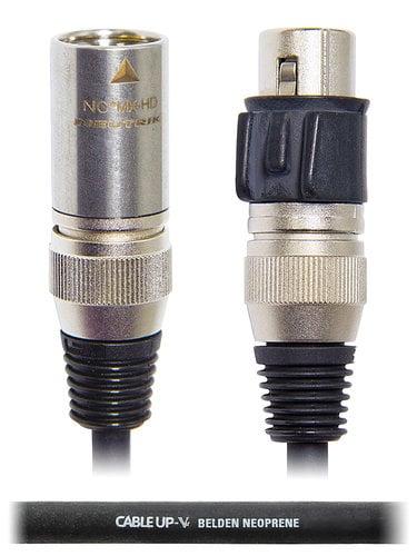 Cable Up by Vu MIC-AN-XX-2-HD 2 ft 22AWG Neutrik XLR X-HD Microphone Cable MIC-AN-XX-2-HD