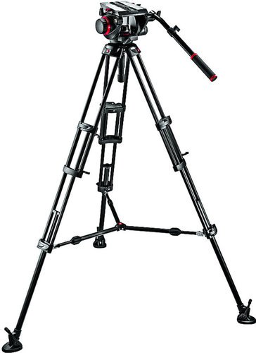 Manfrotto 509HD,545BK Pro Middle-Twin Kit 100 Tripod with Fluid Head & Middle Spreader 509HD,545BK
