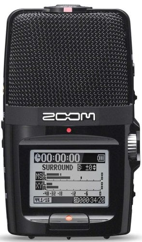 Zoom H2n Handheld Recorder with 4-Channel Surround Sound Recording Mode H2N-ZOOM