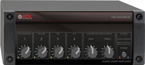 Radio Design Labs HD-MA35UA 35 Watt Mixer Amplifier, 25/70/100V with Power Supply HD-MA35UA
