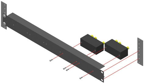 Radio Design Labs TX-RA5 1RU Rack Adapter for TX Series Products TXRA5
