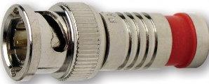 Platinum Tools 18041  BNC-Type RG59 Nickel SealSmart Coaxial Compression Connector 18041