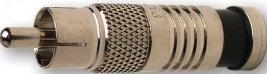 Platinum Tools 18060  RCA-Type RG59 Nickel SealSmart Coaxial Compression Connector 18060