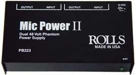 Rolls PB223 Dual 48V Phantom Power Supply PB223