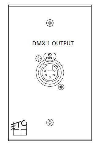 ETC/Elec Theatre Controls ECPB DMXOUT DMX Out Plug-In Station, 1 Gang ECPB-DMXOUT