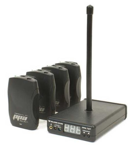 Williams Sound PPA-VP37 Value Pack System with T27 Transmitter and 4 R37 Receivers PPA-VP37