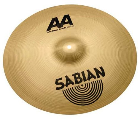 "Sabian 21608 16"" AA Medium Crash Cymbal in Natural Finish 21608"