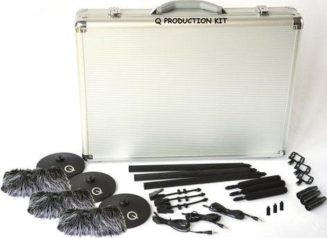 Que Audio QPROD-KIT Q Production Kit Mini Shotgun Microphone Kit with (3) QMSG1 Shotgun Microphones QPROD-KIT