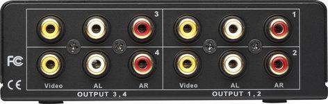 AV Tool AVT4714  1x4 CV/Stereo Audio Splitter  AVT4714