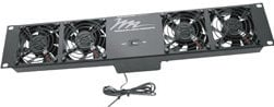 Middle Atlantic Products UQFP-4RT  4-Fan Ultra Quiet Thermostatically Controlled Rack Fan Unit UQFP-4RT