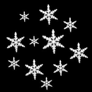 Apollo Design Technology SR-0141 Glass Gobo, Tatted Snowflakes SR-0141