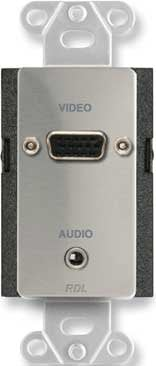 RDL DS-AVMB2  Stainless Steel Audio/Video Monitor BNC Jack Panel DS-AVMB2