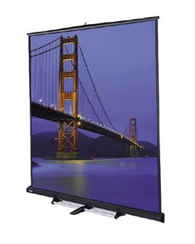 "Da-Lite 98040 69"" x 92"" Floor Model C® Matte White Screen 98040"