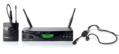 AKG WMS470-SPORT UHF Wireless System with Bodypack and Headset WMS470-SPORT