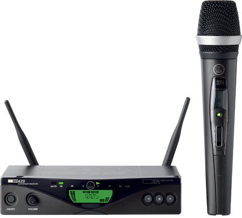 AKG WMS470 Vocal Set D5 UHF Wireless System with HT470 Handheld MicrophoneTransmitter WMS470-D5/VOCAL